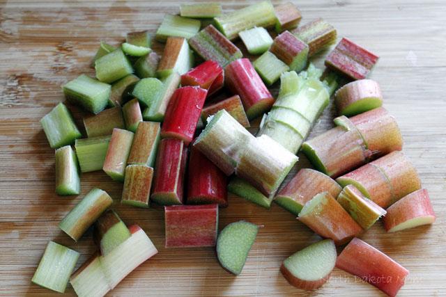 chopped rhubarb